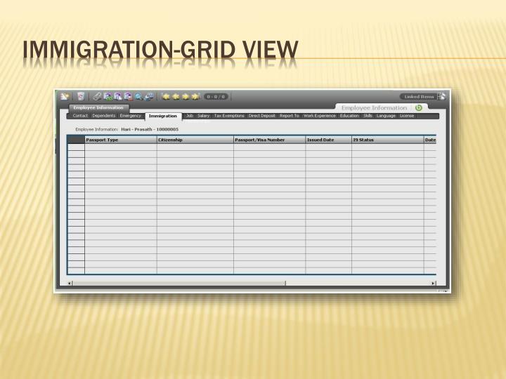 Immigration-Grid View