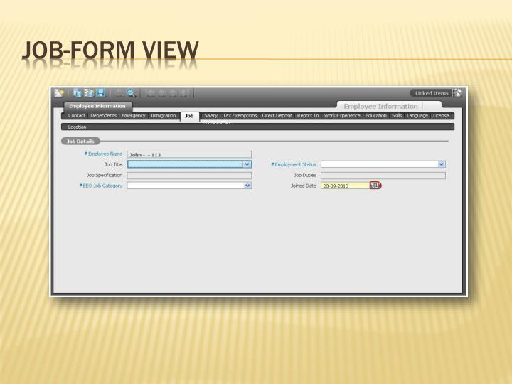 Job-Form View