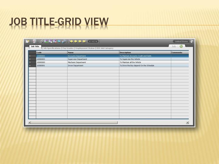 Job Title-Grid View