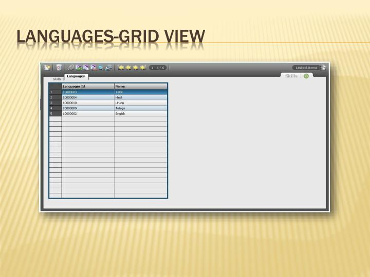 Languages-Grid View