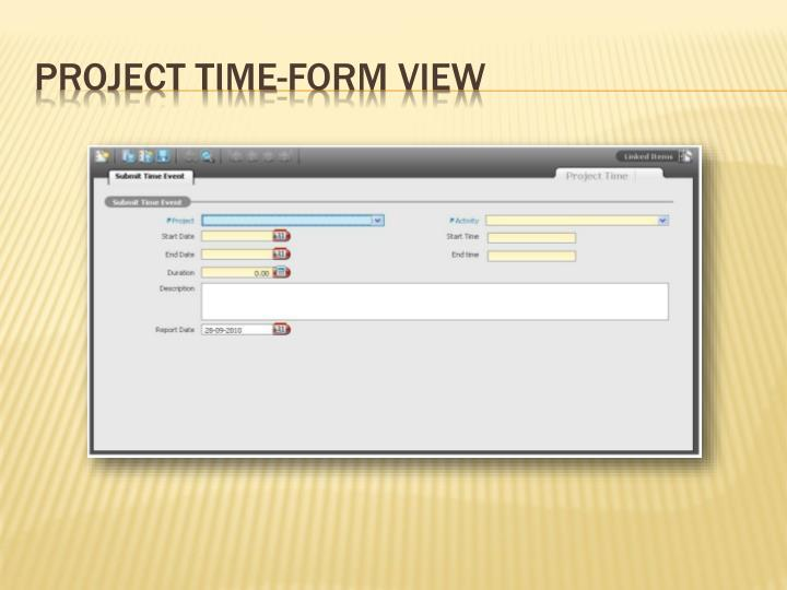 Project Time-Form View
