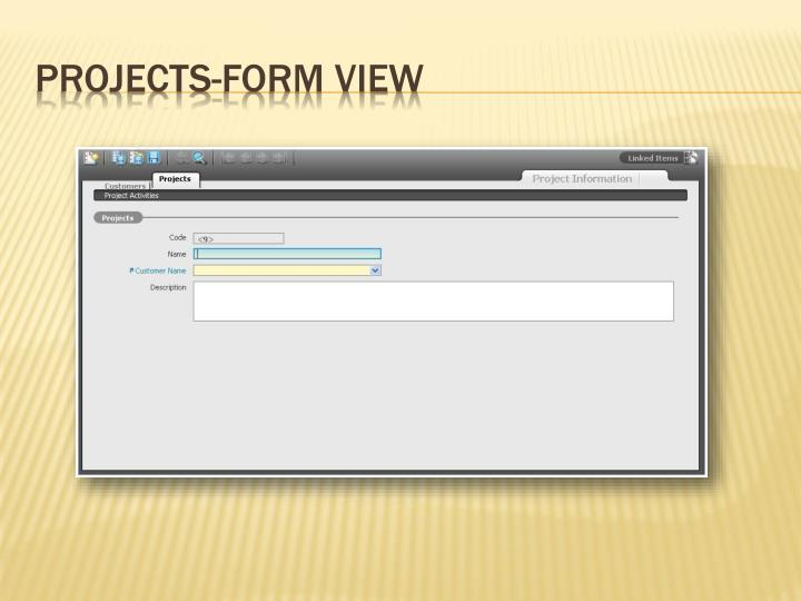 Projects-Form View