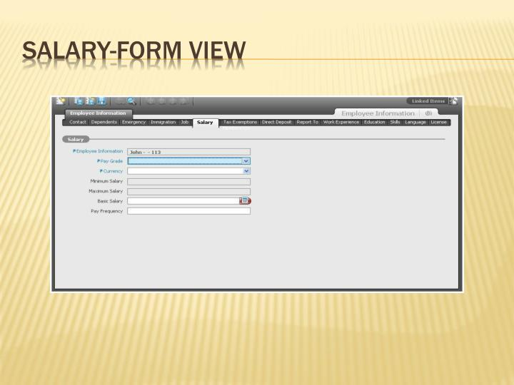Salary-Form View