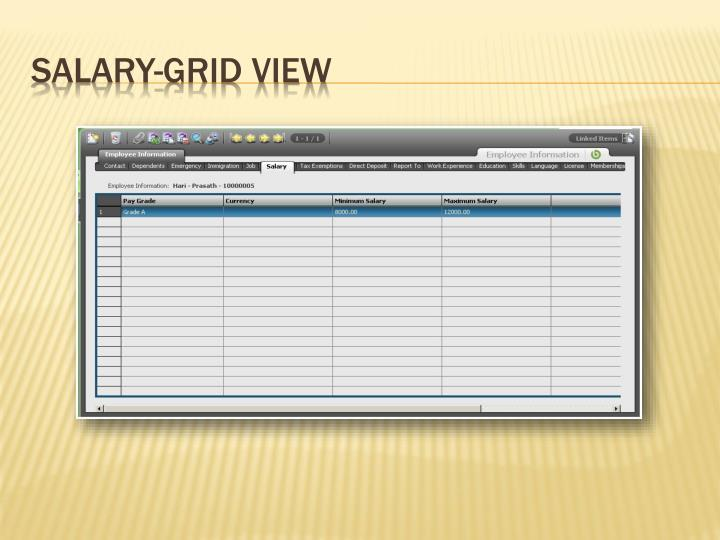 Salary-Grid View