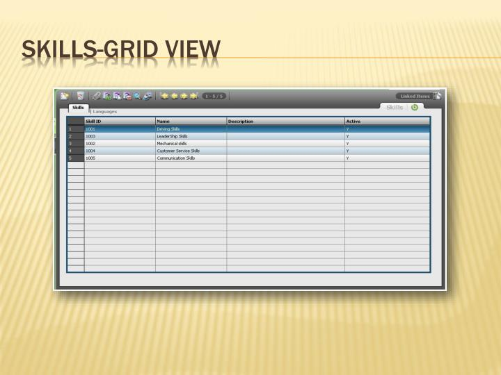 Skills-Grid View