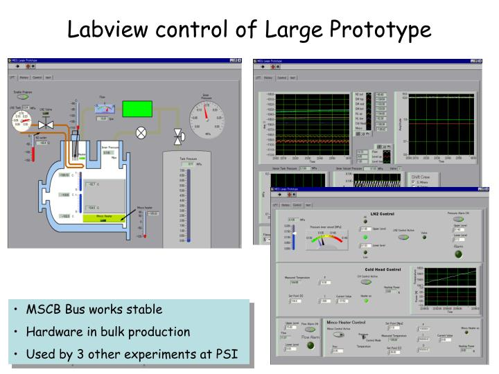 Labview control of Large Prototype