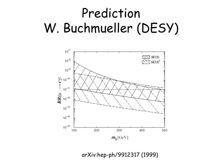 Prediction w buchmueller desy