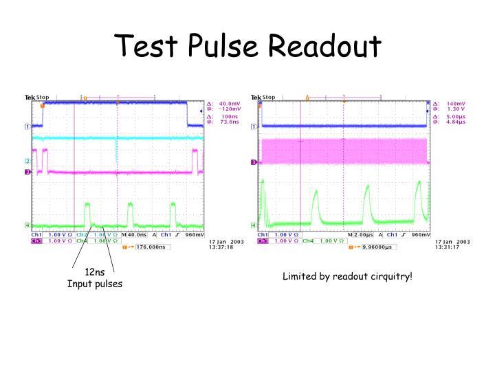 Test Pulse Readout