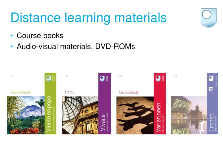 Distance learning materials