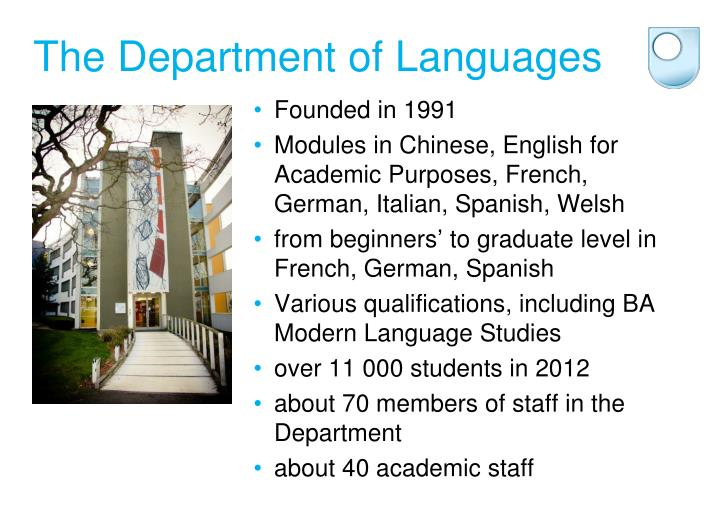 The Department of Languages