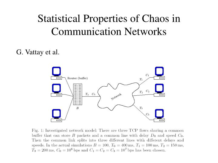 Statistical Properties of Chaos in Communication Networks