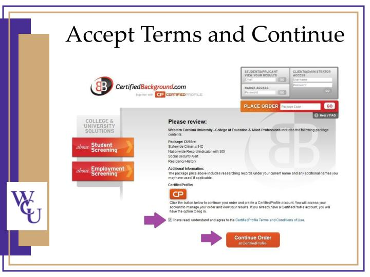Accept Terms and Continue