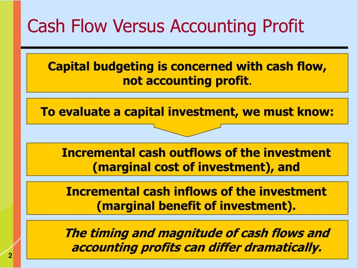 cash flow versus net income in capital budgeting