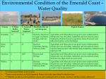 environmental condition of the emerald coast water quality