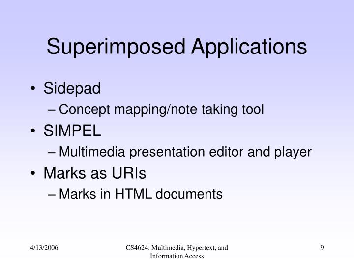 Superimposed Applications