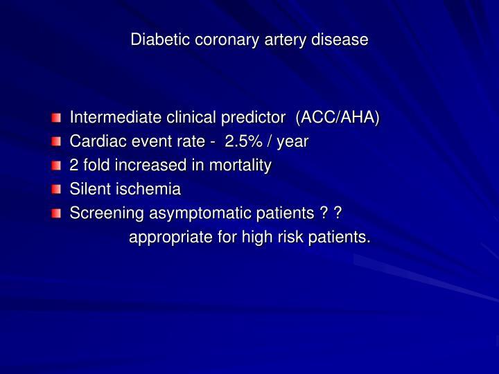 Diabetic coronary artery disease