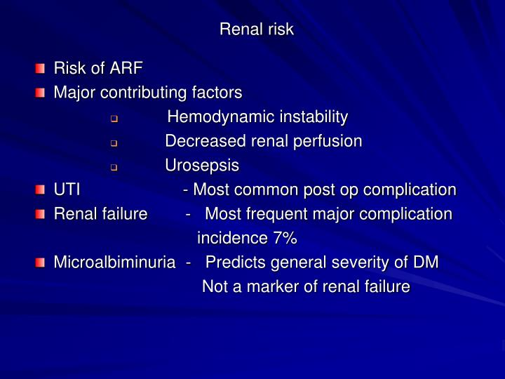 Renal risk