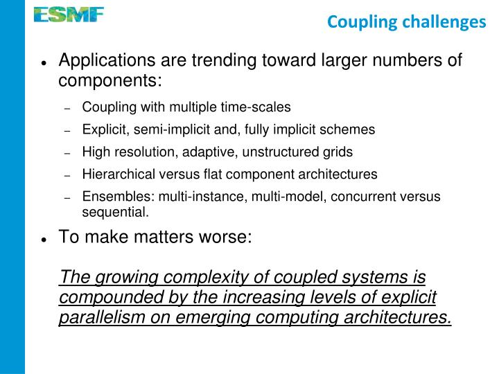 Coupling challenges