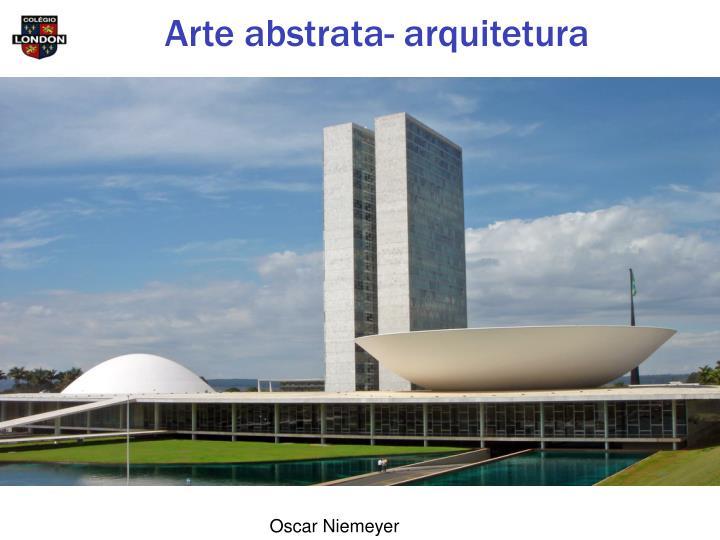 Arte abstrata- arquitetura