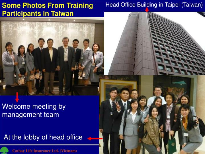 Some Photos From Training Participants in Taiwan