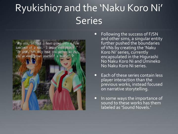 Ryukishi07 and the 'Naku Koro Ni' Series