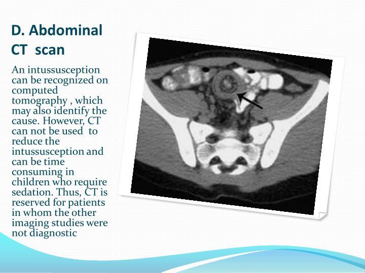 D. Abdominal CT