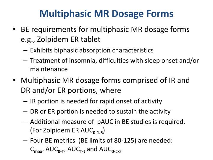 Multiphasic MR Dosage Forms
