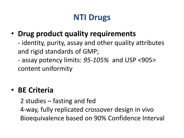 NTI Drugs