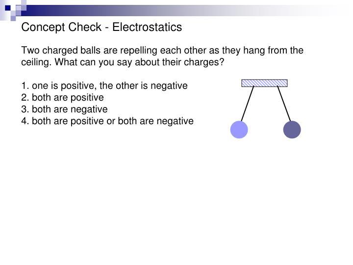 Concept Check - Electrostatics
