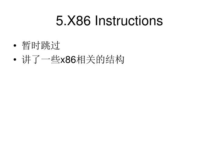 5.X86 Instructions