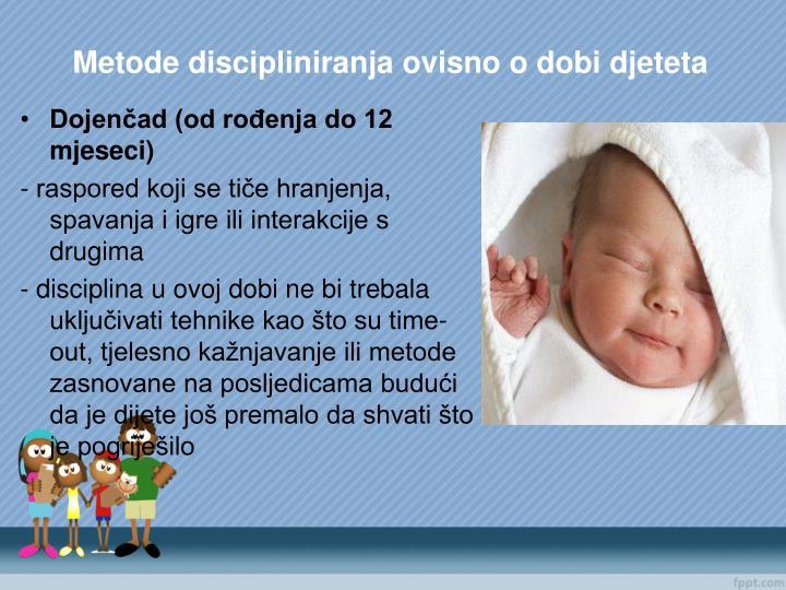 Metode discipliniranja ovisno o dobi djeteta