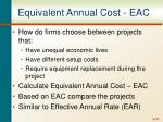 equivalent annual cost eac