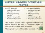 example equivalent annual cost analysis