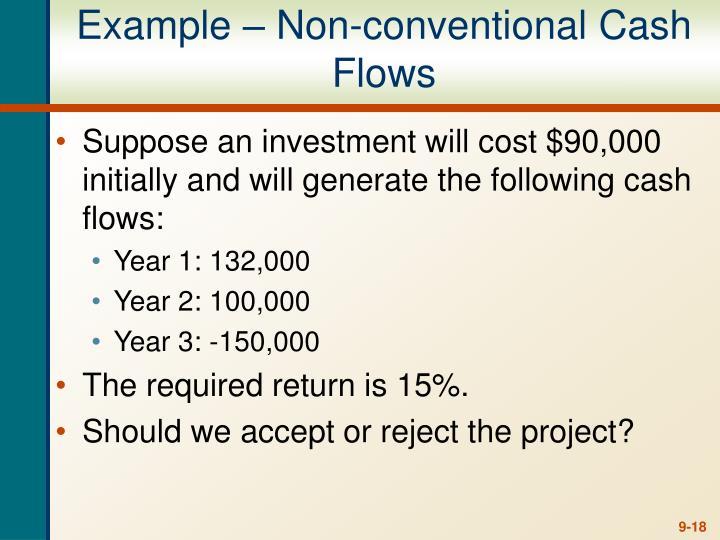 Example – Non-conventional Cash Flows