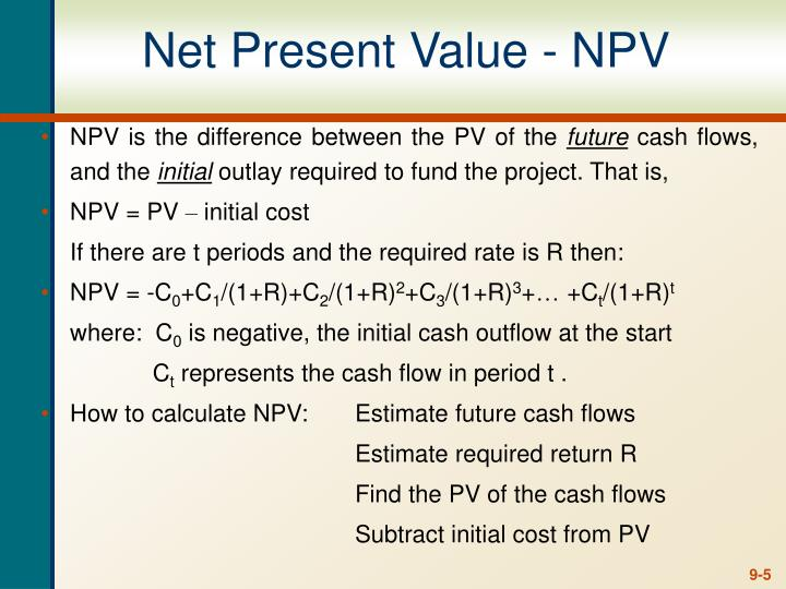 Net Present Value - NPV