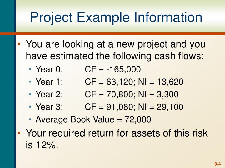Project Example Information
