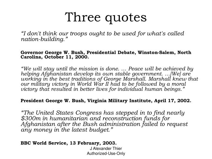 Three quotes