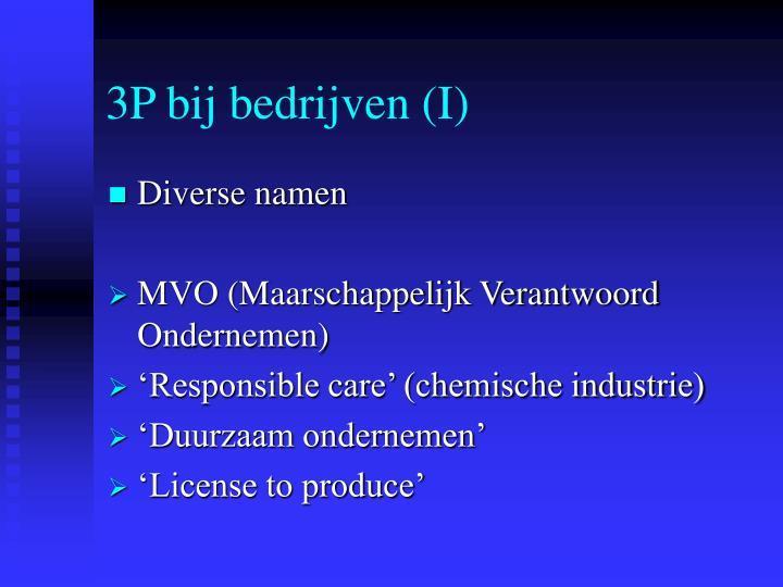 3P bij bedrijven (I)