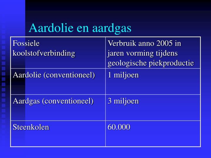 Aardolie en aardgas