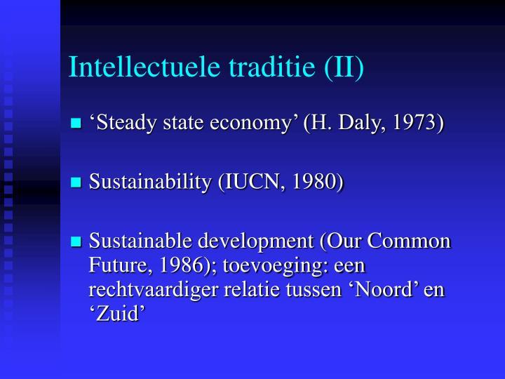 Intellectuele traditie (II)