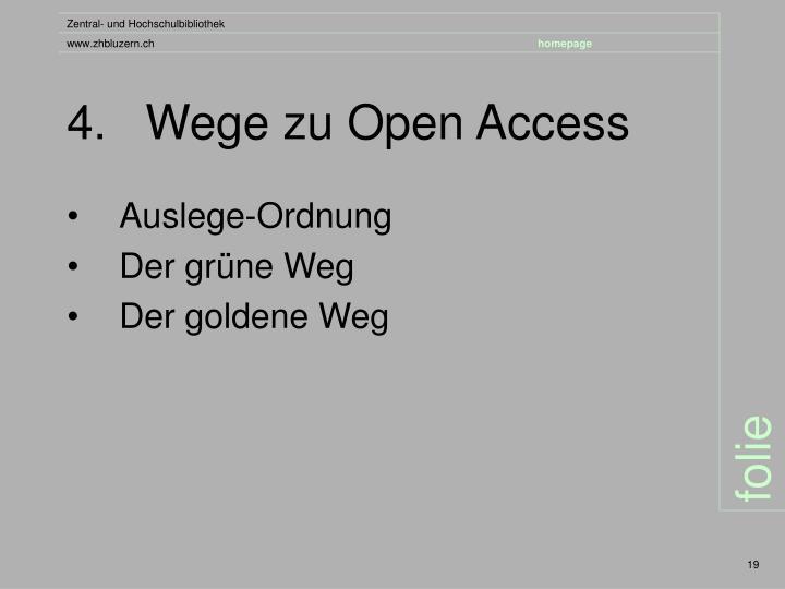 4.Wege zu Open Access