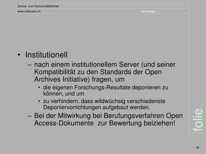 Institutionell