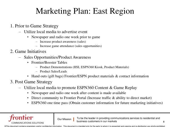 Marketing Plan: East Region
