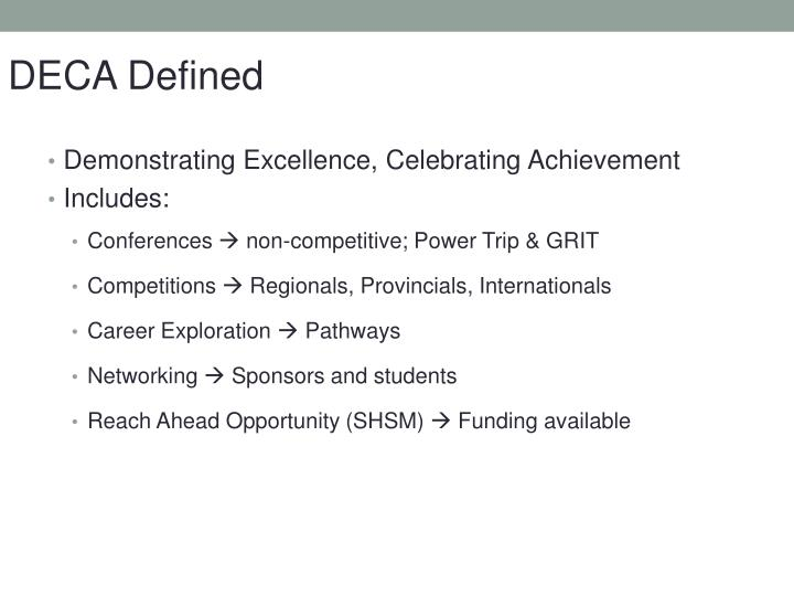 DECA Defined