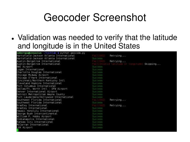 Geocoder Screenshot