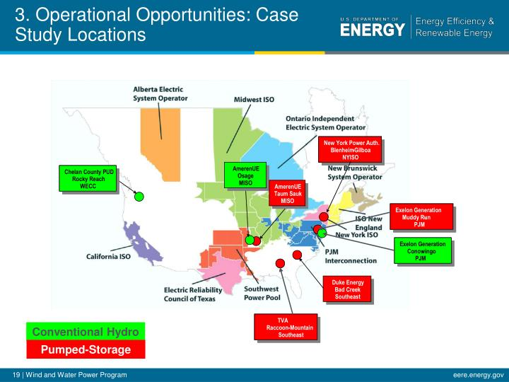 3. Operational Opportunities: Case Study Locations