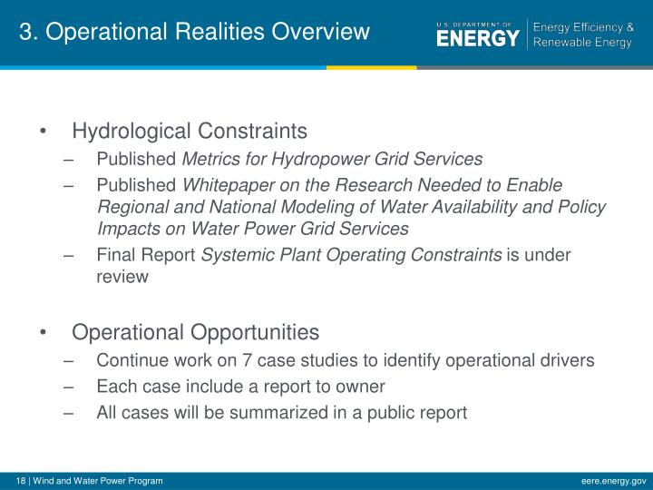 3. Operational Realities Overview