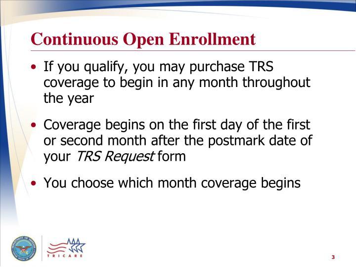 Continuous Open Enrollment