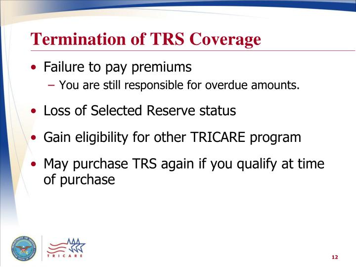 Termination of TRS Coverage