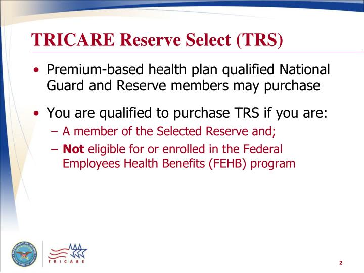 TRICARE Reserve Select (TRS)